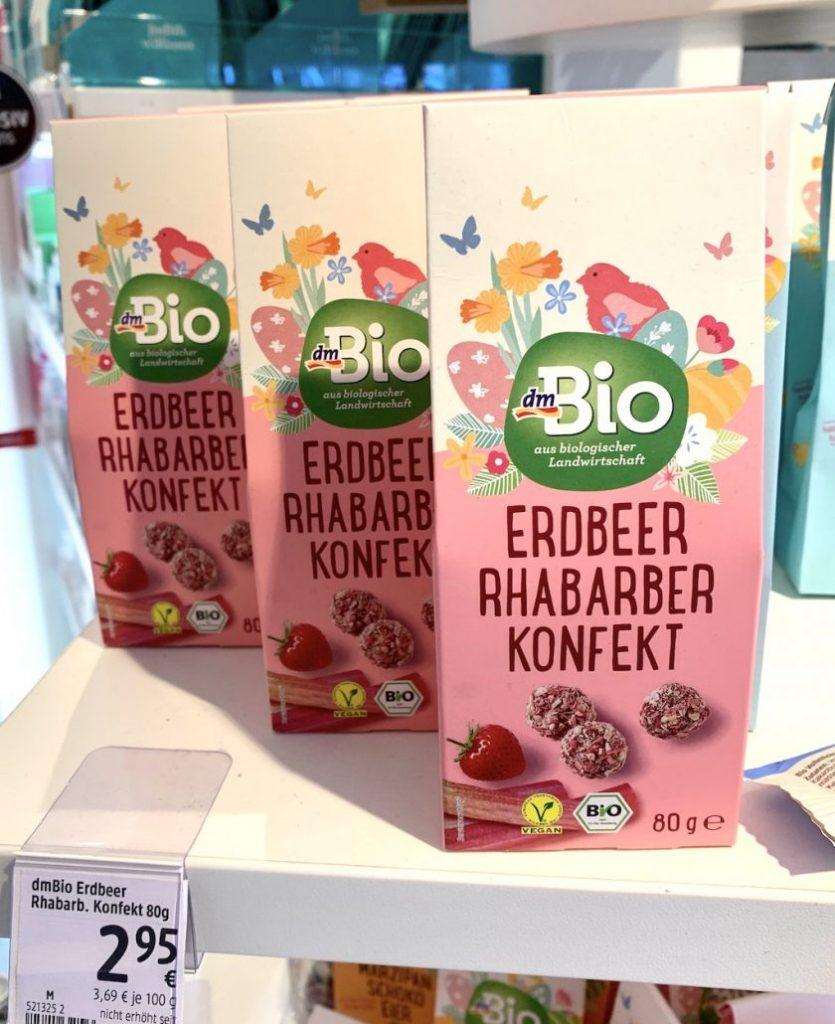 dm Bio Erdbeer Rhabarber Konfekt 80G