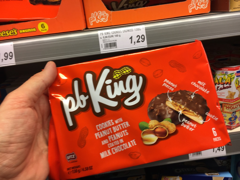 pb King Cookies with Peanut Butter and Peanuts coated in Milk Chocolate
