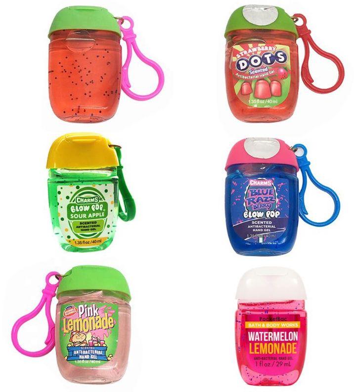 Charms Hand Sanitizer Strawberry Dots-Sour Apple-Pink Lemonade-Watermelon Lemonade