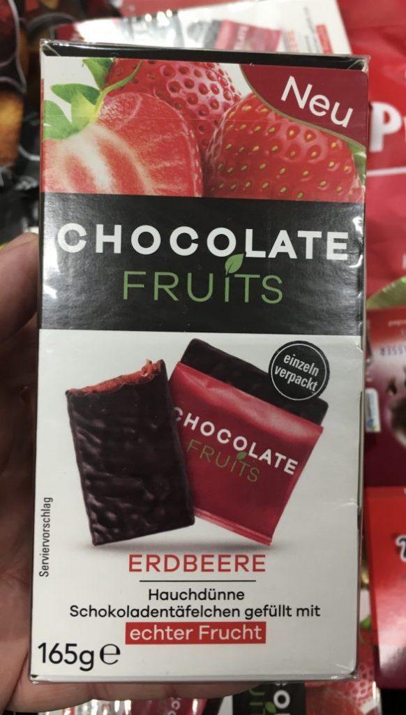 Chocolate Fruits Erdbeere Schokotäfelchen gefüllt mir Frucht 165G