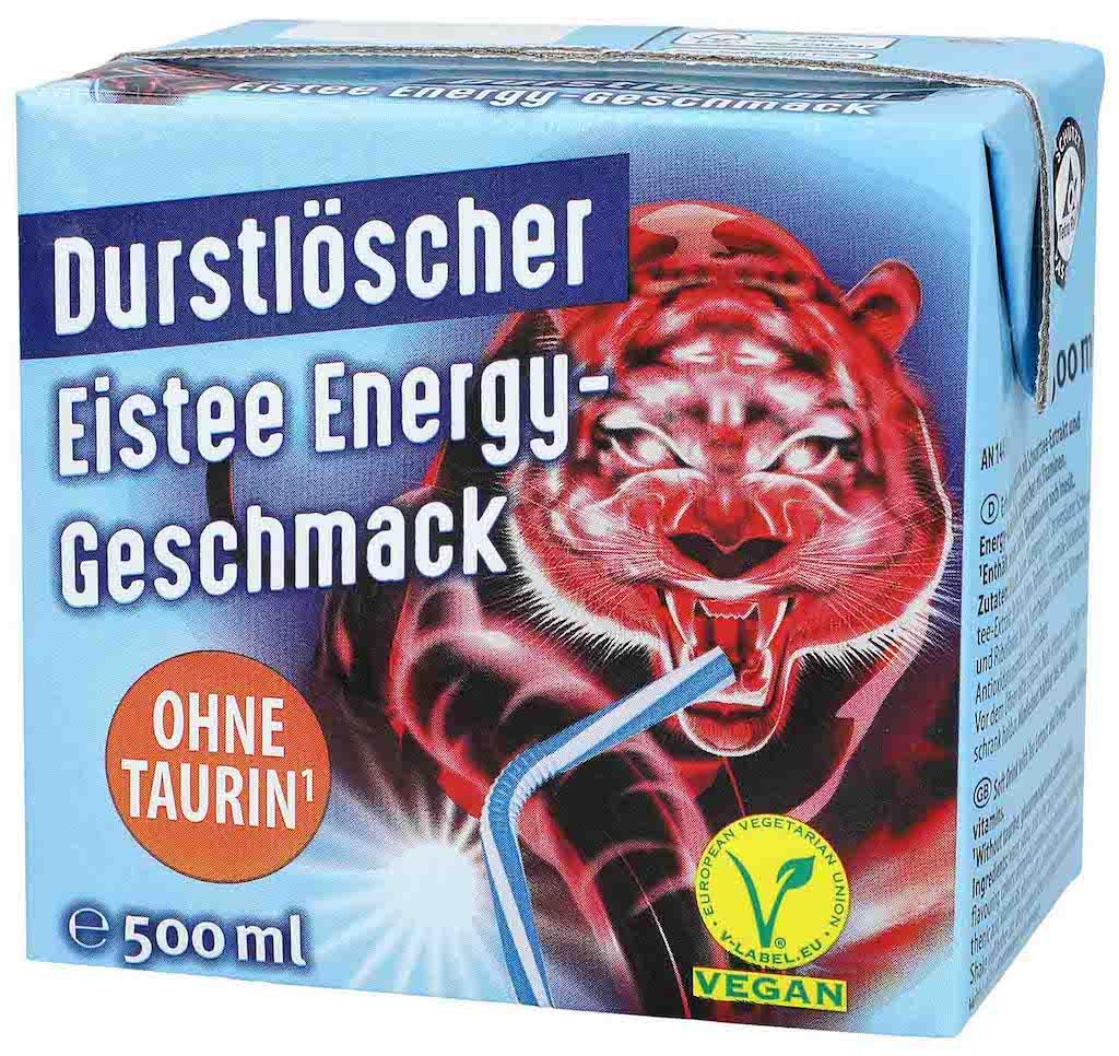 Durstlöscher Eistee Energy-Geschmack 500ml