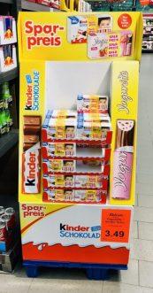 Ferrero KINDER-Schokolade Yogurette-Bodenaufsteller