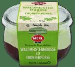 Merl Waldmeistermousse auf Erdbeerpüree 100G