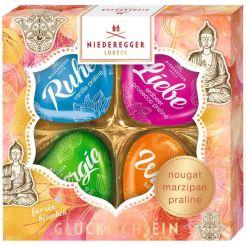 Niederegger Marzipanherzen-gluecklichsein Buddha 54g