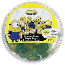 Ragolds Minions Fruchtgummi Himbeere-Zirone-Kirsche-Banane-Heidelbeere-Pfirsich 950g-Dose