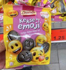 Aldi Biscotto Kekse by emoji weiße Cremefüllung 200g