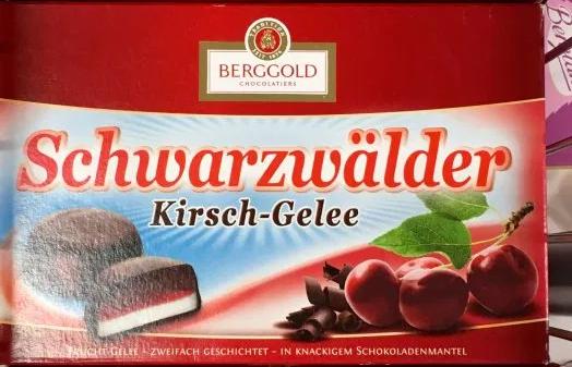 Berggold Schwarzwälder Kirsch Gelee alte Verpackung