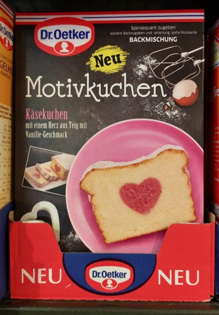 Dr. Oetker Motivkuchen Herz Käsekuchen Backmischung