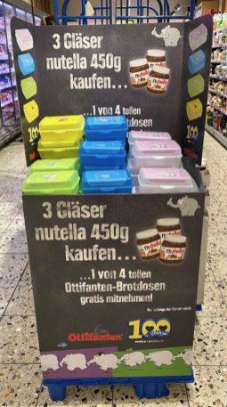 EDEKA Nutella Ottifanten Brotdose Display