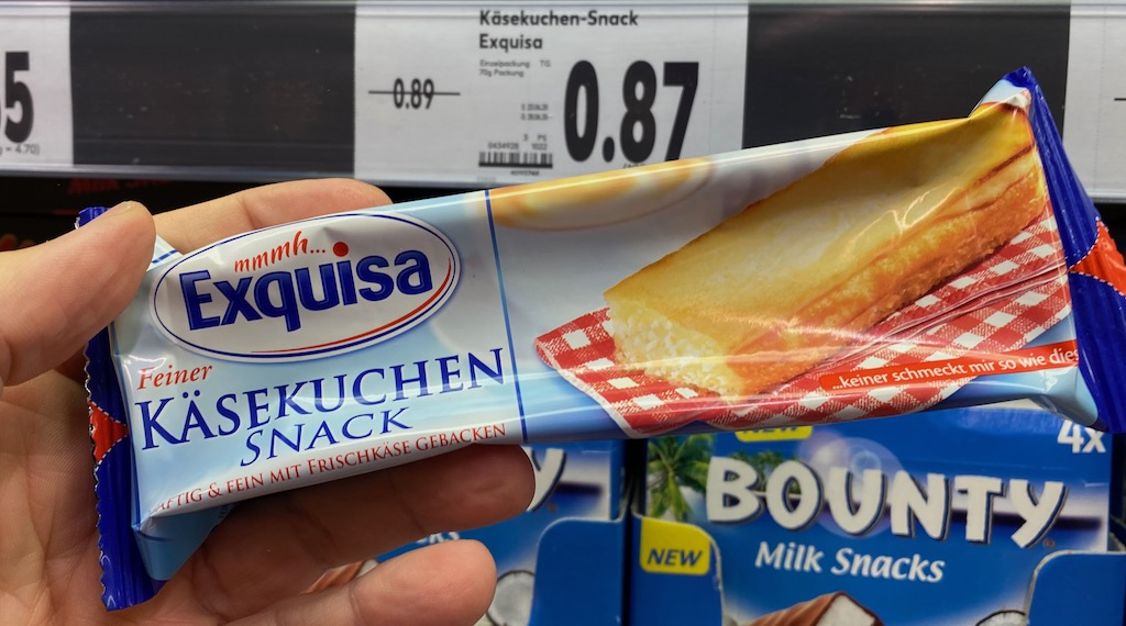Exquisa Feiner Käsekuchen Snack mit Frischkäse gebacken