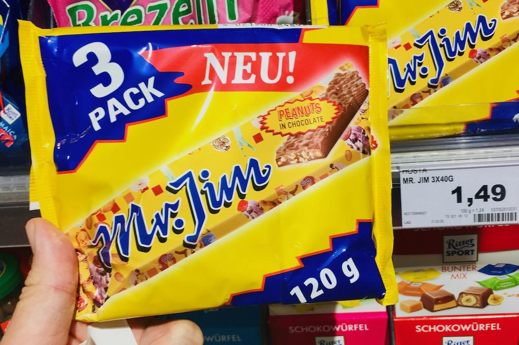 Hosta Mr Jim Riegel Erdnüsse mit Schokolade 120g 3er Pack