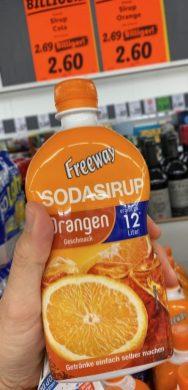 Lidl Freeway Sodasirup Orangegeschmack für 12 Liter