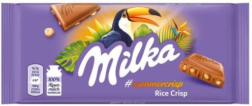 Milka Rice Crisp Summercrisps 100g mit Tukan-Motiv