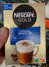 Nestlé Nescafé Gold Typ Cappuccino weniger süß Nutri-Score