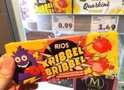 Penny Rios Kribbel-Bribbel Erdbeerfruchteis mit Knisterbrausestückchen 10er