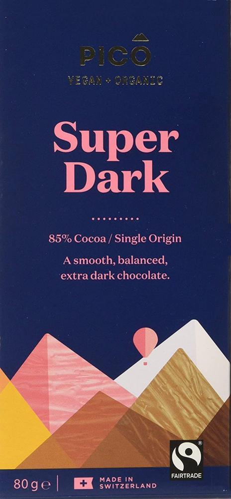 Pico Super dark organic Vegan chocolate 80Gramm