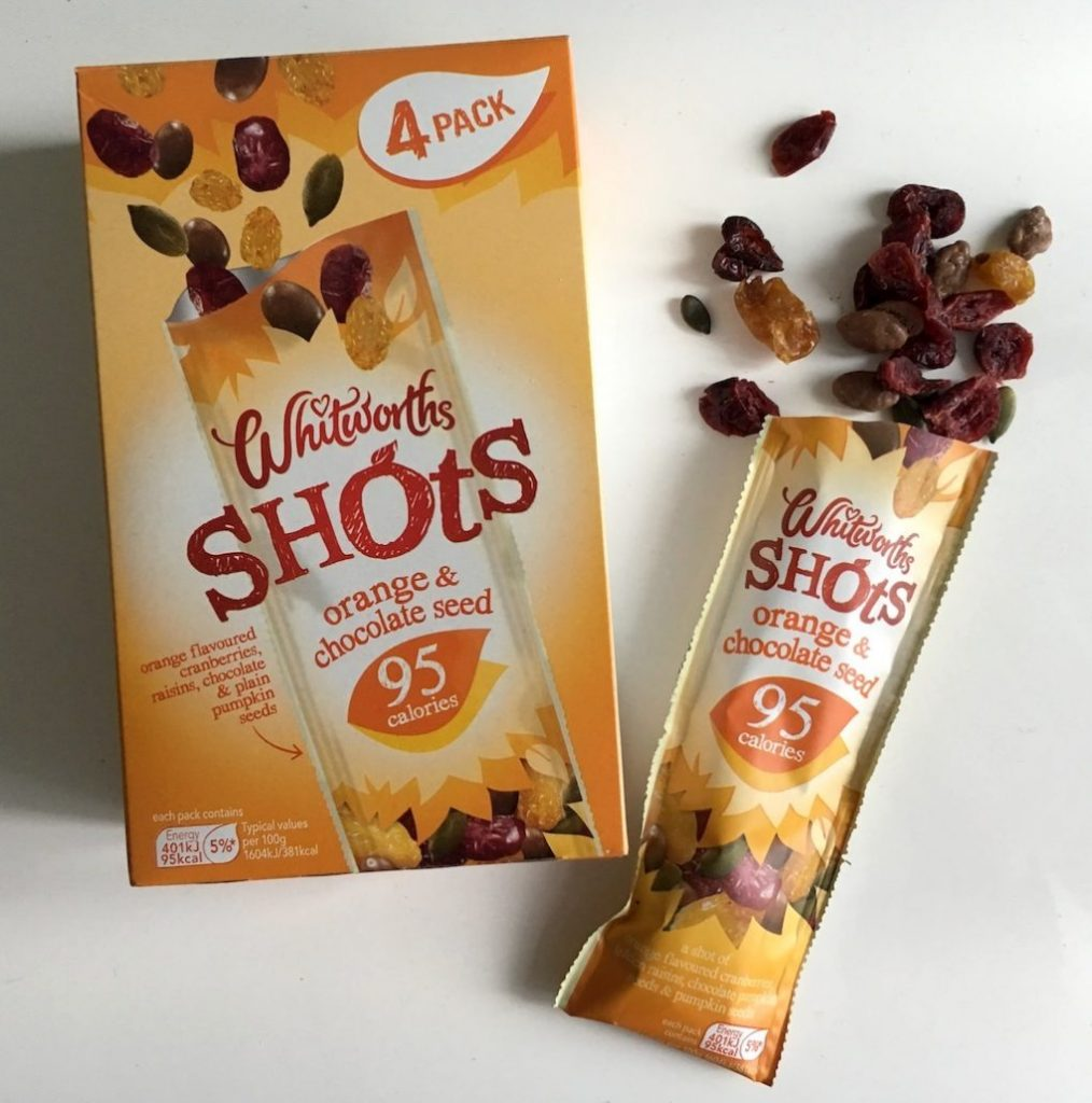 Whitworths Shots Orange+Chocolate Seed 4er