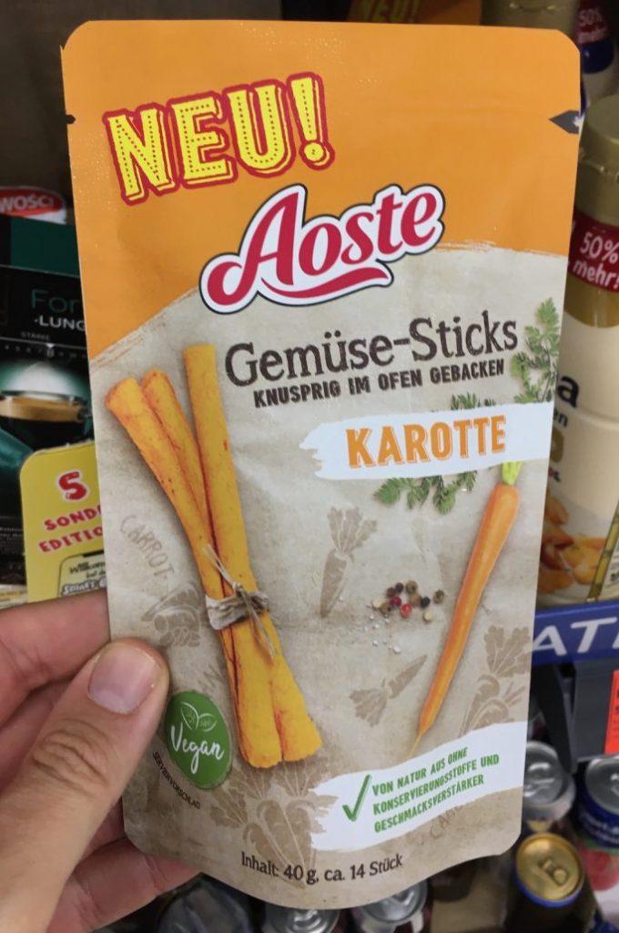 Aoste Gemüse-Sticks Karotte 40G