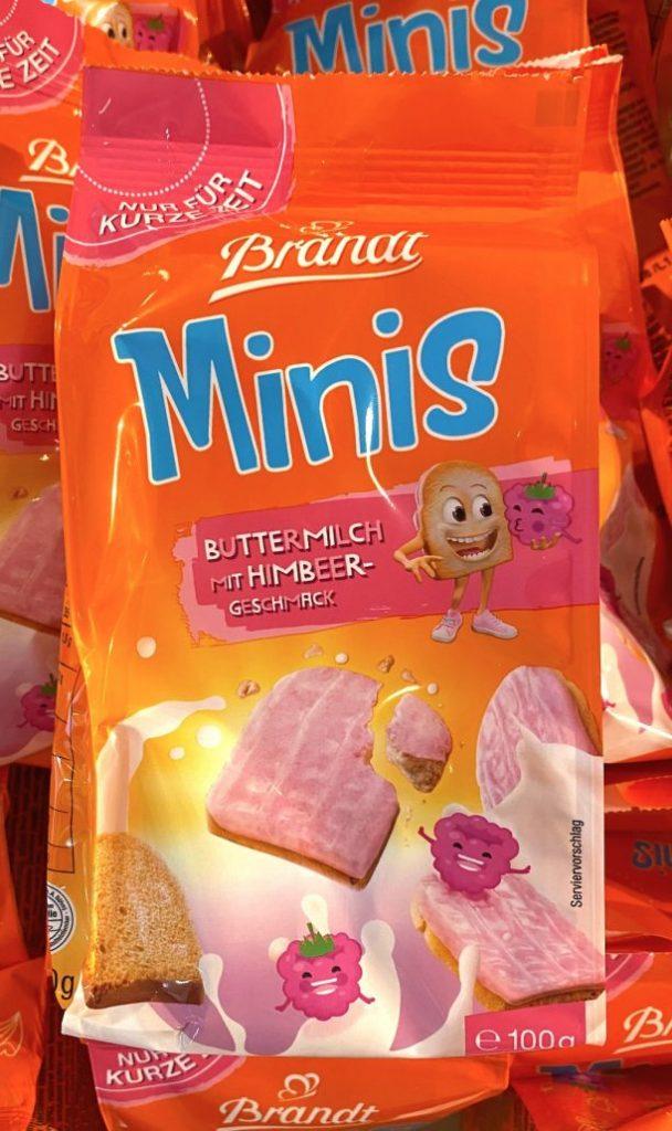 Brandt Minis Buttermilch mit Himbeer-Geschmack 100G