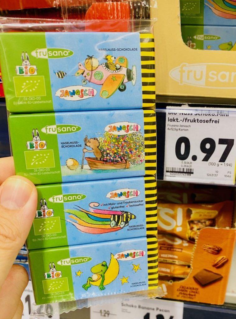 Frusano Bio Janosch Haselnuss-Schokoladentäfelchen