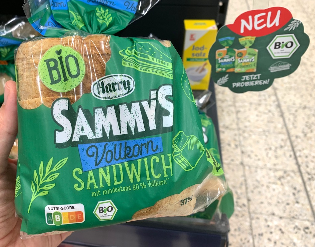 Harry Bio Sammy's Vollkorn Sandwich Nutri-Score
