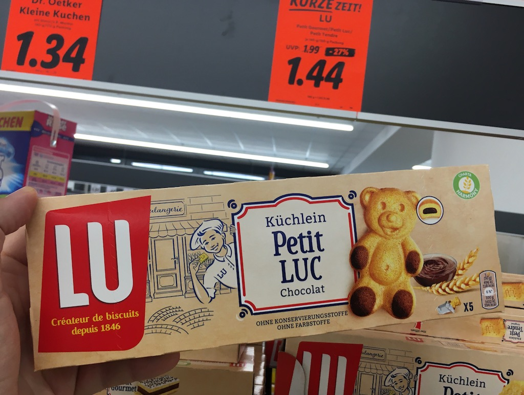 Lu Küchlein Bärenform Petit Luc Chocolat 5er