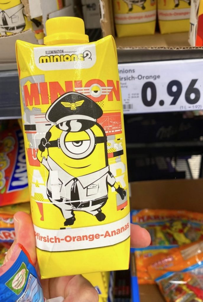 Minions2 Pfirsich-Orange-Ananas Drink Uniform