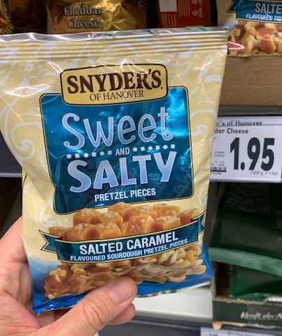 Snyder's Sweet+Salty Pretzel Pieces Salted Caramel