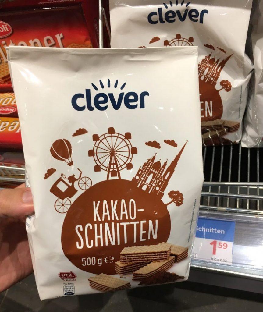 Clever Kakao-Schnitten 500Gramm Manner-Imitat Österreich
