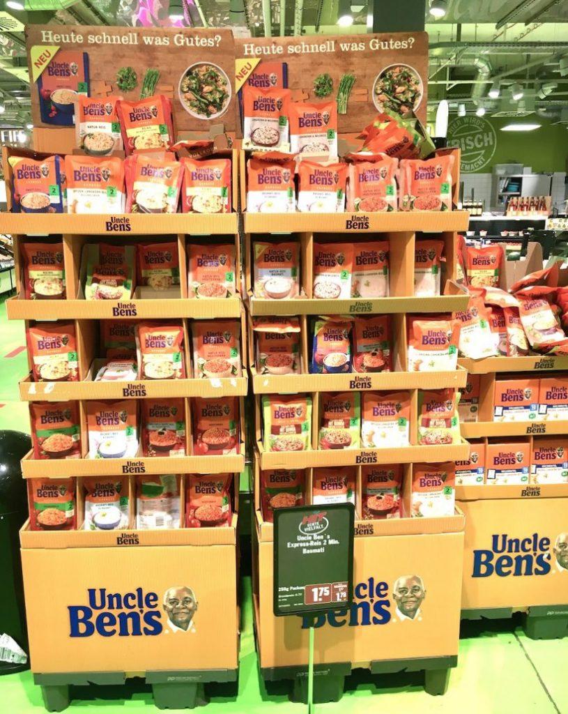 Mars Uncle Ben's Doppel-Display mit Mikrowellen-Reis