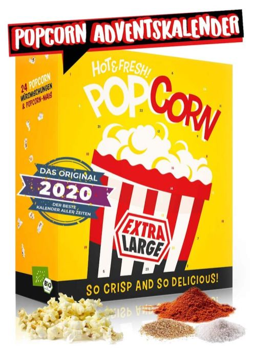 Popcorn Adventskalender Extra Large 2020