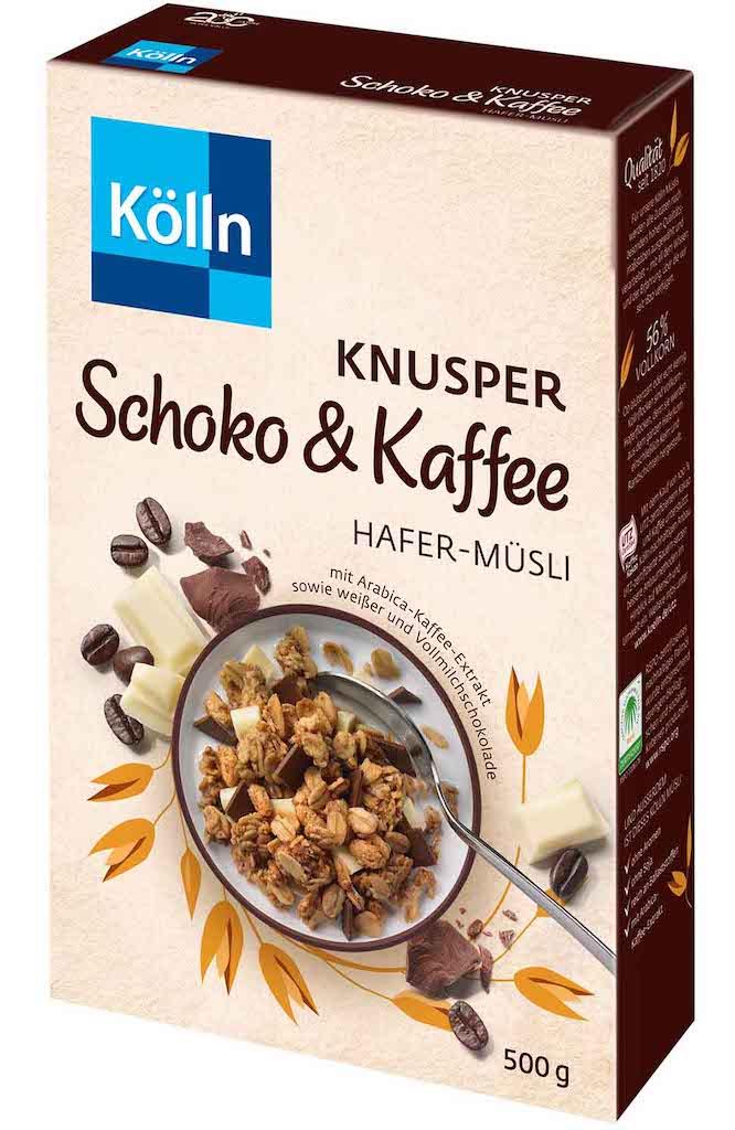 Koelln Flocken Knuspermüsli Schoko+Kaffee 500G