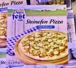 Lidl Alpenfest Style Steinofen-Pizza mit WEißwurst 375Gramm TK