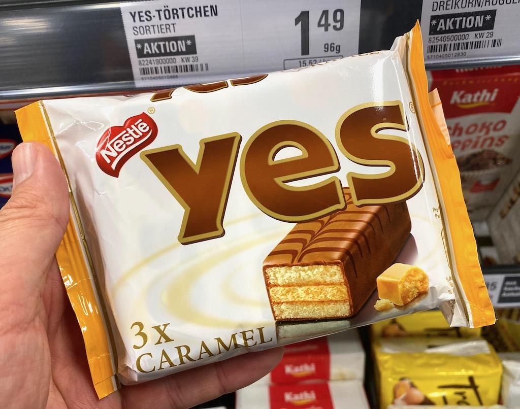 Nestlé Yes Torty Caramel 3er 96G
