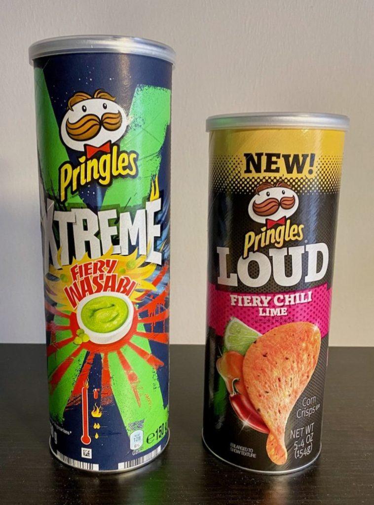 Pringles Xtgreme Fiery Wasabi-Pringles Loud Fiery Chili Lime