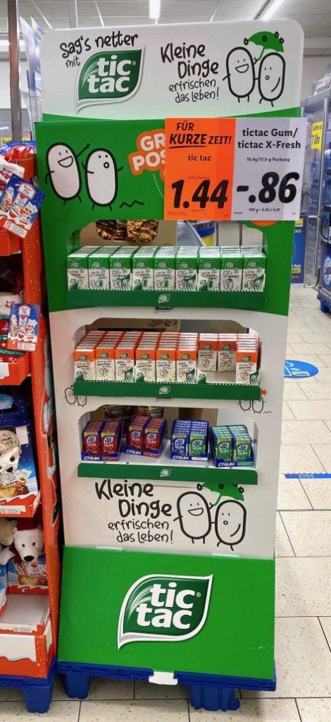 Ferrero tictac Kleine Dinge erfrischen das Leben Display
