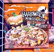 Lidl Halloween Monsterpizza mit Würstchen 330G TK