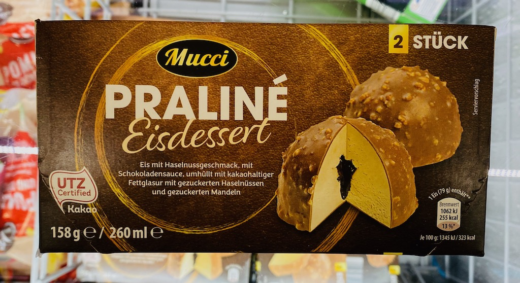 Mucci Praliné Eisdessert 2er 260ML