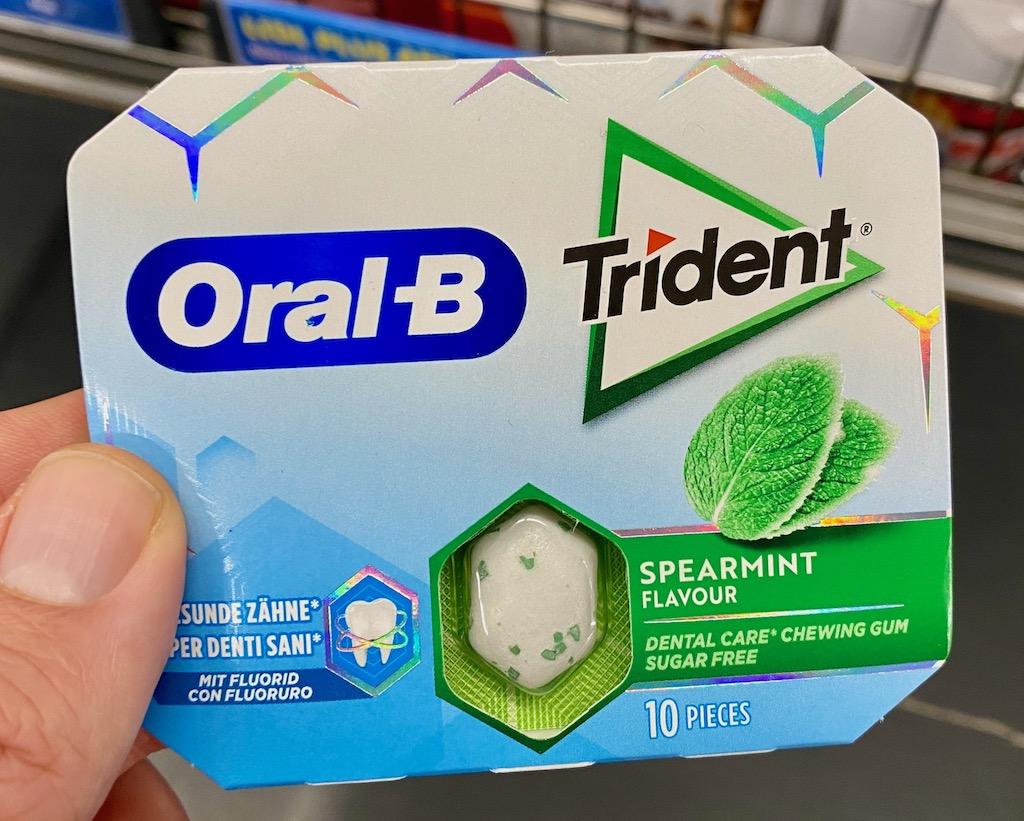 Oral-B Trident Kaugummi Spearmint Double Brands