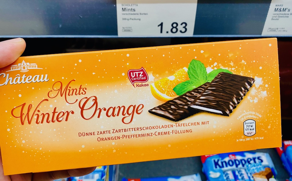 Aldi Chateau Mints Winter Orange After Eights