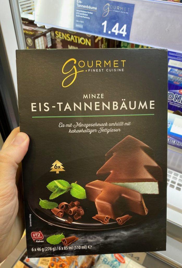 Aldi Gourmet Finest Cuisine Minze Eis-Tannenbäume 6er 510ML