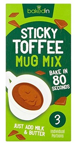 BakedIn Sticky Toffee Mug Mix 3er Tassenkuchen