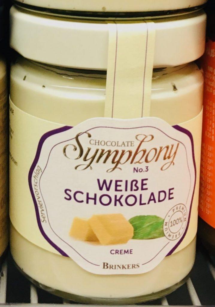 Chocolate Symphony Weiße Schokolade Creme Brotaufstrich