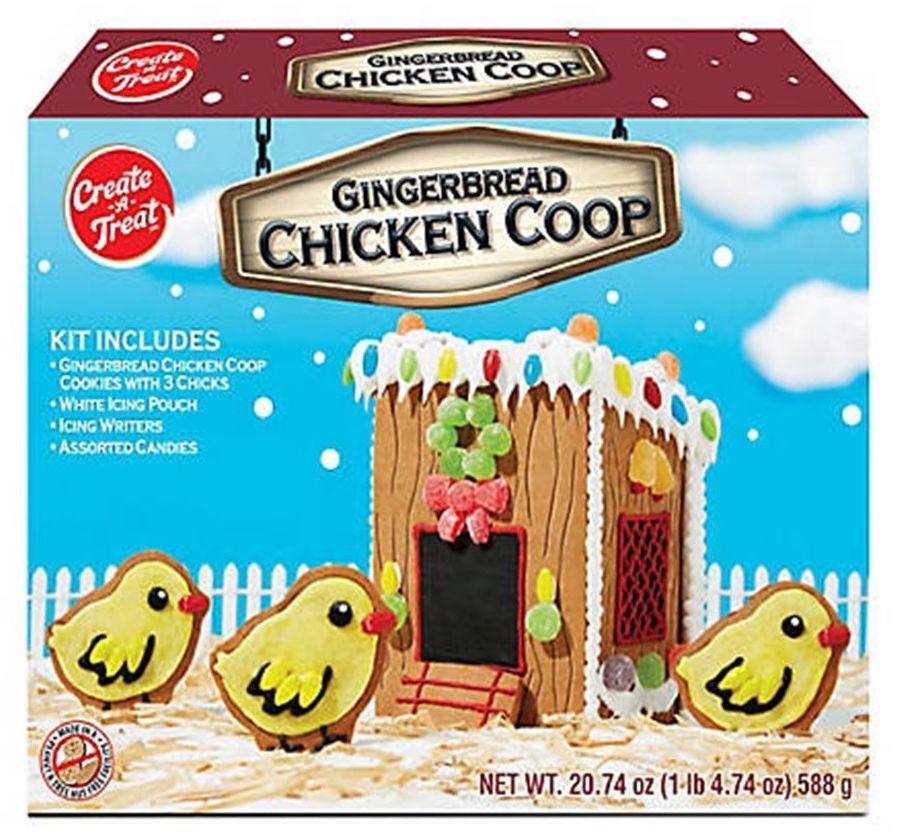 Create a Treat Gingerbread Chicken Coop 588G