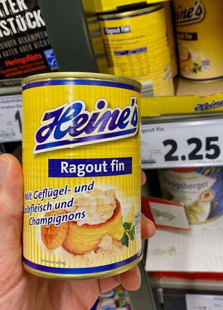 Heine's Ragout Fin mit Geflügel- und Kalbfleisch und Champignions