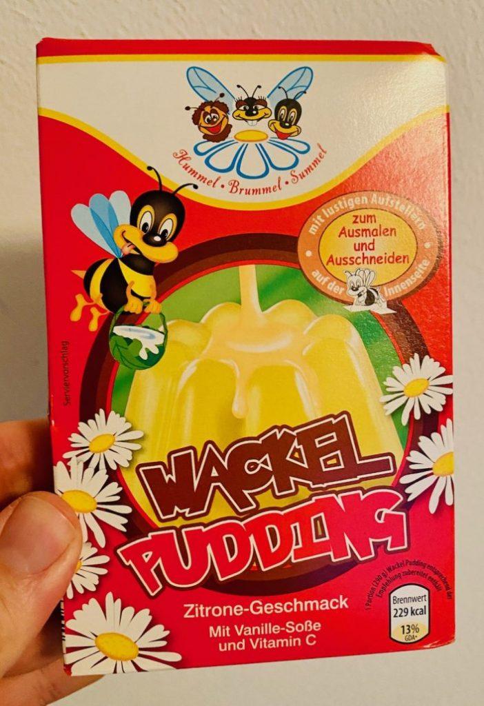 Hummel Brummel Summel Wackelpudding Zitronengeschmack mit Vanille Soße und Vitamin C Bienemotiv