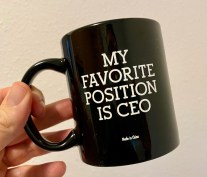 Kaffeebecher My favorite Position is CEO