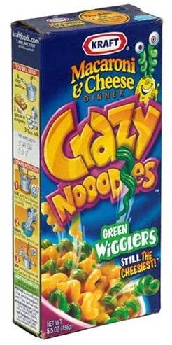 Kraft Mac+Cheese Crazy Noodles Green Wigglers Halloween Edition