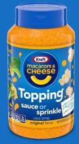 Kraft Mac+Cheese Topping Sauce or sprinkle
