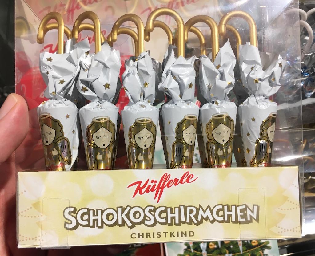 Küfferle Schokoschirmchen Christkind